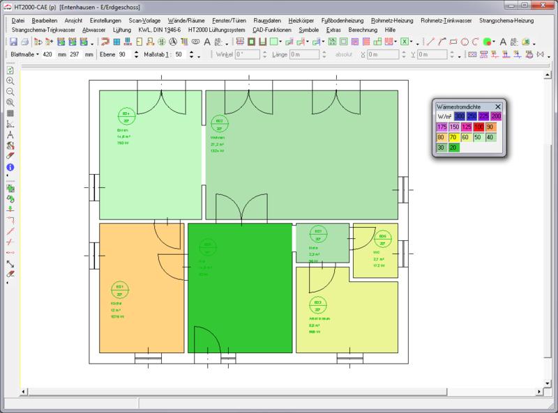 CAD-Basis + Heat load EN 12831
